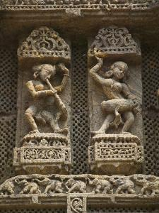 Details of Bas Relief of Orissa Dancers at Sun Temple, Konark, Orissa, India by Keren Su