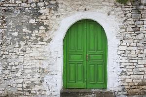 Door of an old house, Berat, Albania by Keren Su