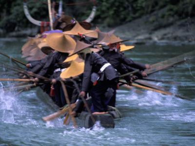 Dragon Boat Race at Miao People's Festival, China by Keren Su