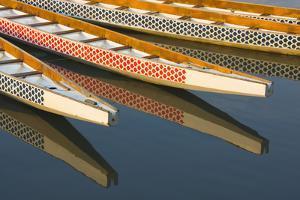 Dragon Boats in Manila Bay, Manila, Philippines by Keren Su