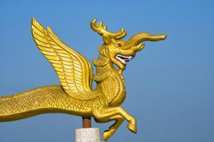 Dragon statue in Golden Temple, Chittagong Division, Bangladesh by Keren Su