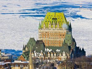 Fairmont Le Chateau Frontenac by St. Lawrence River, Quebec City, Canada by Keren Su