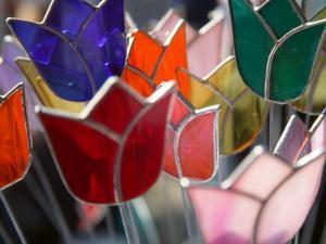 Glass Made Tulip Decoration in Keukenhof Gardens, Amsterdam, Netherlands by Keren Su