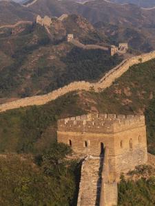 Great Wall at Sunset, Jinshanling, China by Keren Su