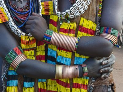 Hamar tribe, people in traditional clothing, Hamar Village, South Omo, Ethiopia by Keren Su