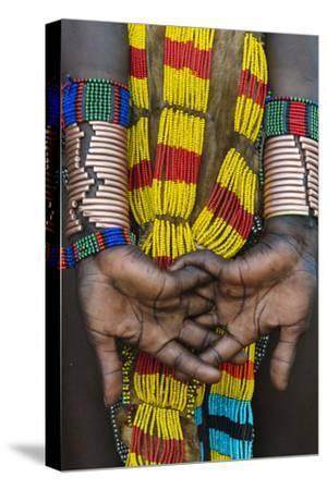 Hamar tribe, woman in traditional clothing, Hamar Village, South Omo, Ethiopia