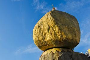 Kyaiktiyo Pagoda on a Granite Boulder, Mon State, Myanmar by Keren Su