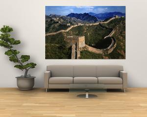Landscape of Great Wall, Jinshanling, China by Keren Su