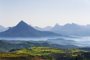 Landscape of mountain, between Aksum and Mekele, Ethiopia by Keren Su