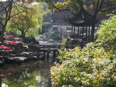 Landscape of Traditional Chinese Garden, Shanghai, China by Keren Su