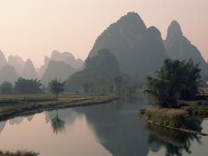 Li River and Karst Hills by Keren Su