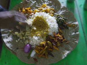 Local Food on Dish, Orissa, India by Keren Su