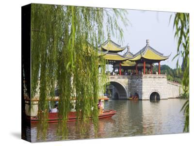 Lotus Bridge (Also Five Pagoda) Bridge on Slim West Lake (Shouxihu), Yangzhou, Jiangsu, China