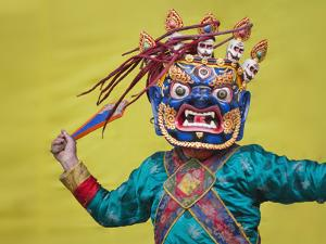 Mask Dance Performance at Tshechu Festival, Bumthang, Bhutan by Keren Su
