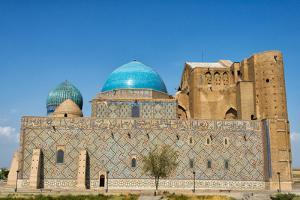 Mausoleum of Kohja Akhmet Yassawy (UNESCO World Heritage Site). Turkestan, Kazakhstan. by Keren Su