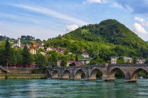 Mehmed Pasha Sokolovic Bridge on the Drina River,  Visegrad, Bosnia and Herzegovina by Keren Su