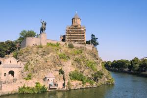 Metekhi Church on the bank of Kura River, Tbilisi, Georgia by Keren Su