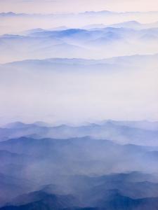Misty mountain range by Keren Su