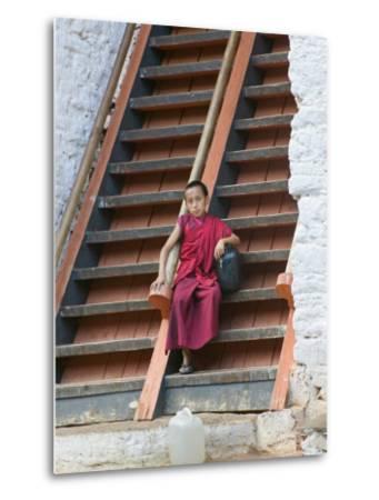 Monks in Punakha Dzong, Punakha, Bhutan
