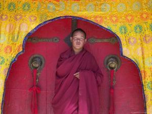 Monks in Sakya Monastery, Tibet, China by Keren Su