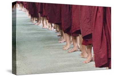 Monks Waiting in Line at Mahagandayon Monastery, Amarapura, Myanmar
