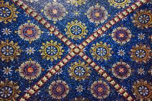 Mosaic painting inside Oplenac Royal Mausoleum, also known as Saint George's Church, Topola, Serbia by Keren Su