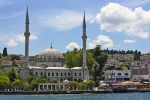 Mosque and buildings on the waterfront on the Asia side. Golden Horn, Istanbul, Turkey. by Keren Su