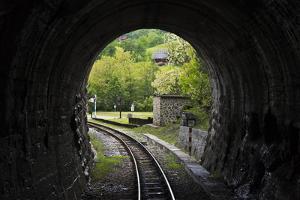 Narrow-gauge heritage railway track for the Sargan Eight train, Mokra Gora, Serbia by Keren Su