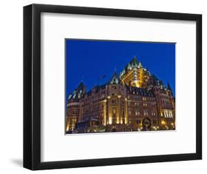 Night View of Chateau Frontenac Hotel, Quebec City, Canada by Keren Su