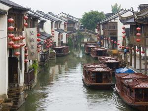 Old Houses Along the Grand Canal in Shantang Street, Old Town of Suzhou, Jiangsu, China by Keren Su