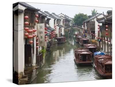 Old Houses Along the Grand Canal in Shantang Street, Old Town of Suzhou, Jiangsu, China