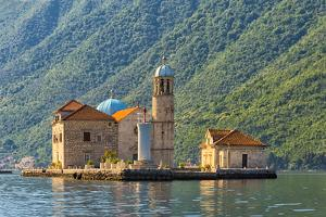 Our Lady of the Rocks, an artificial island, with the Roman Catholic Church by Keren Su
