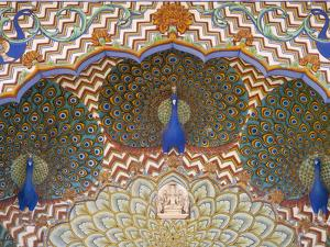 Painting and Interior Decoration in City Palace, Jaipur, Rajasthan, India by Keren Su