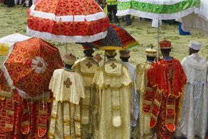 Pilgrims celebrating Meskel Festival, Lalibela, Ethiopia by Keren Su