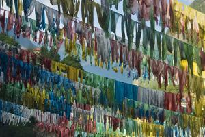Prayer flags in the valley, Ngawa Tibetan and Qiang Autonomous Prefecture, western Sichuan, China by Keren Su