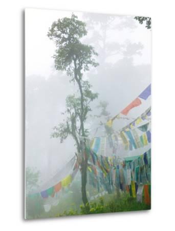 Praying Flags in the Dochula Pass, Between Wangdi and Thimphu, Bhutan