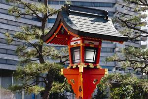Red lantern in Fushimi Inari Shrine, Kyoto, Japan by Keren Su
