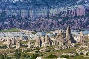 Rock formations in the valley, Goreme, Cappadocia, Turkey (UNESCO World Heritage Site) by Keren Su