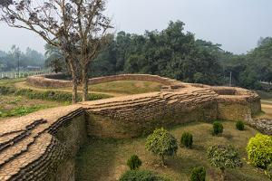 Ruins of Mahasthangarh, one of the earliest urban archaeological sites in Bangladesh by Keren Su