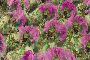 Samba Parade at Sambadrome During Carnival, Rio de Janeiro, Brazil by Keren Su