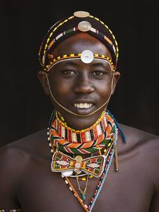 Samburu Tribesman by Keren Su