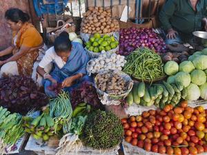 Selling Fruit in Local Market, Goa, India by Keren Su