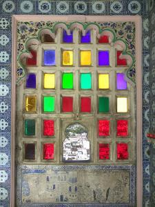 Stained Glasses in City Palace, Udaipur, Rajasthan, India by Keren Su