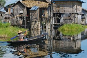 Stilt Cottages of Floating Village on Inle Lake, Shan State, Myanmar by Keren Su