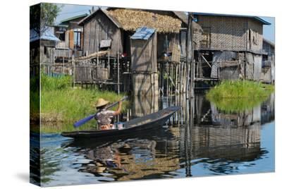 Stilt Cottages of Floating Village on Inle Lake, Shan State, Myanmar