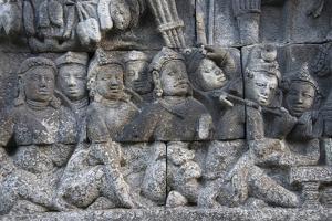 Stone Carving at Borobudur, UNESCO, Java, Indonesia by Keren Su