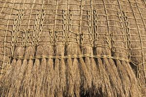 Straw roof of traditional dome houses, Mantenga Cultural Village, Swaziland by Keren Su