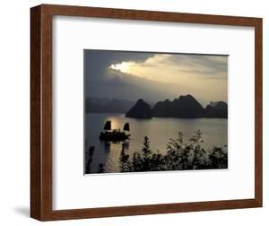 Sunset on Karst Hills and Junk Boats, Ha Long Bay, Vietnam by Keren Su