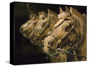 Terra cotta horse chariot, Emperor Qin Shihuangdi's Tomb, Xian, Shaanxi, China by Keren Su