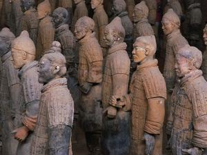 Terracotta Warrior Statues at Xian, China by Keren Su